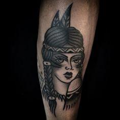 """marcuuscampos no Instagram: """"#tattoo #indiantattoo #blackandgreytattoo"""""""