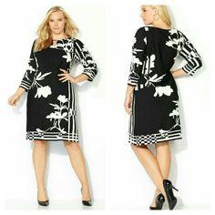 Black & white dress Nwt Avenue Dresses Long Sleeve