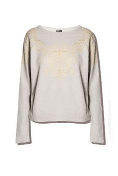 Q2 Women's Baroque Embroidered Sweatshirt:Amazon:Clothing