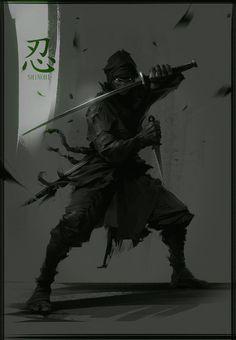 Wallpapers and Artworks  Ninja-Shinobi by Marat Ars / Russia http://marat-ars.blogspot.com/