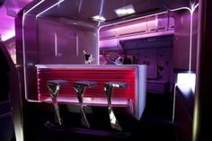 Virgin Atlantic reveals its new Upper Class cabin with the longest business class bed and bar in the sky Virgin Atlantic, Flat Twist, Sisterlocks, Aircraft Interiors, Cabin Interiors, Aircraft Design, Cabin Design, Business Class, Air Travel