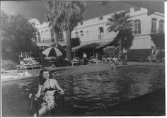 The San Marcos swimming pool was a popular hangout for guests of the hotel.  86.144.14 chandlerpedia.org