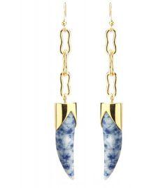 The New Look: Effortless Street Style - Kelly Wearstler Horn Earring #ShopBAZAAR