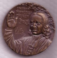 United Methodist Church Bronze Medal John Wesley | eBay