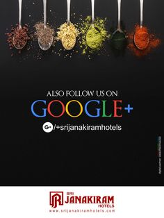 Stay updated with us on Google to catch up with us.  follow us in Google : /+srijanakiramhotels