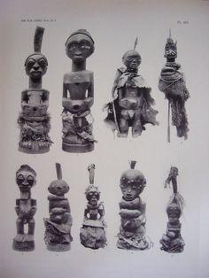 LITHOS PLATES MAES 1935 FETICHES-CONGO-KUSU-SONGYE-YOMBE-WOYO-TABWA-TEKE-VILI