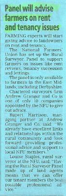 Rural team appointed members of NFU panel