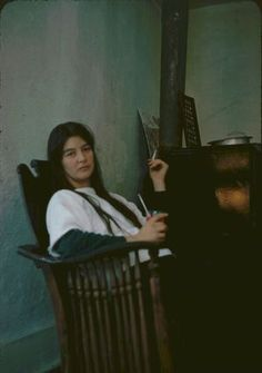 """Karen Dalton was a half Cherokee American with a voice and ability to approach the banjo like no other. Dylan once said of her """"Karen had a voice like Billie Holiday's and played the guitar like Jimmy Reed and went all the way with it,"""" - KF"""