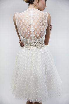 Vestido de novia corto. Francesca Miranda, Spring 2014