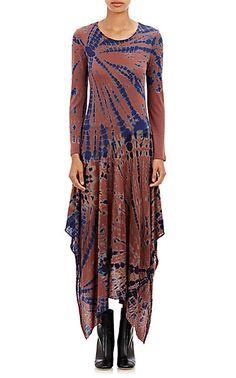 Raquel Allegra Tie-Dyed Handkerchief Dress - Long - Barneys.com