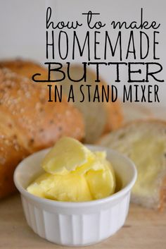 Did you know you can make your own homemade butter in a KitchenAid mixer or food processor?!! It is fun & easy and tastes SO much better than the store bought stuff!