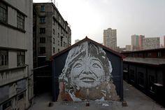 Vhils in Shangai. Portuguese proud <3