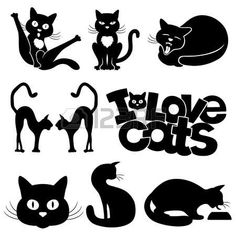 silhouette chat: silhouettes Cats