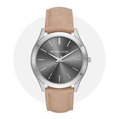 Michael Kors Slim Runway Gray Brown Mk8619 Brown And Grey, Gray, Michael Kors Watch, Runway, Quartz, Slim, Watches, Band, Leather
