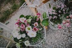 Jaulas con Flores para Bodas