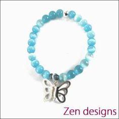 Zen Kids Bracelet. Blue Butterfly.