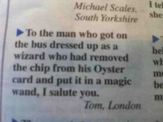 Tom thanks the wizard