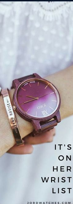 Gorgeously grained natural woods, precision quartz movements, design that tells more than time. Find her new favorite watch at jordwatches.com - free shipping as always!