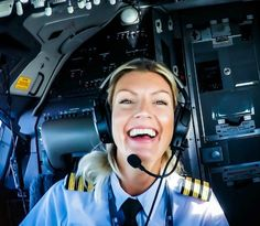 The view from 40,000 feet is spectacular, that is, if you're in the cockpit with this sexy pilot. -  #flying, #pilot, #sexy, #fear of height...