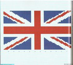 Crochet Pattern Union Jack : INSTANT DOWNLOAD Chella Crochet British Union Jack Flag ...