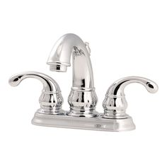 centerset 2handle bathroom faucet in polished chrome