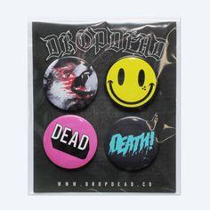 Death! Pin Badge Set; for my denim vest!