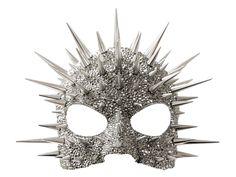 Metallic mask, studded & covered with Swarovski crystals. Originally designed for Madonna's Super Bowl Halftime performance 2012. | Constellation Mask, Paradox Designs