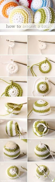 Ball Pattern--my sister did knitted balls for the kids for Christmas. Maybe I'll try these crocheted ones.