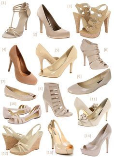 Nude shoes? Doesn't have to be this style, but I definitely like the color combo!