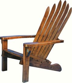 a classier version of the Adirondack ski chair with really old school wood skis