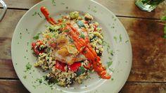 Zöldséges tarhonya hirtelen sült karajjal és paprikás mártással (4 személyre) #porkchops #eggbarley