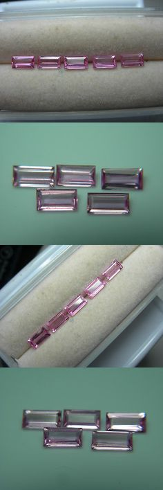 Sapphire 10259: 5 Rare Fancy Hot Pink Sapphire Gems Madagascar Fluorescent Gemstone Parcel Rect -> BUY IT NOW ONLY: $599.99 on eBay!