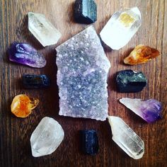 Crystal Grid Collection Raw Crystal Healing Crystals and Stones Rough Stones Raw Amethyst Bohemian Decor Spiritual Healing Grid Stones by crystalsNcreations on Etsy https://www.etsy.com/listing/254784168/crystal-grid-collection-raw-crystal