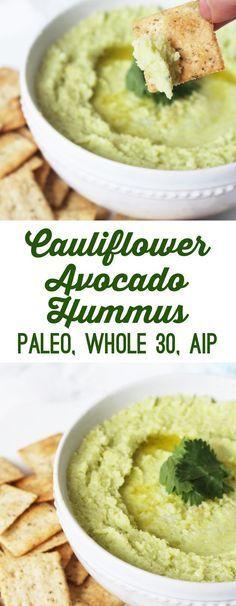Paleo Avocado Cauliflower Hummus (Whole AIP) - Unbound W.- Paleo Avocado Cauliflower Hummus (Whole AIP) – Unbound Wellness - Avocado Hummus, Avocado Toast, Guacamole, Keto Avocado, Avocado Salad, Avocado Egg, Vegan Avocado Recipes, Avocado Cake, Low Carb Paleo