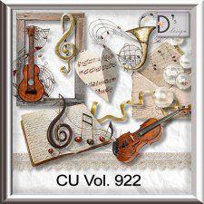 Vol. 922 - Music Mix by Doudou's Design  cudigitals.com cu commercial scrap scrapbook digital graphics#digitalscrapbooking #photoshop #digiscrap