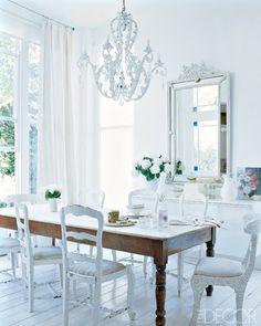 DESDE MY VENTANA: Comedores en Blanco / White Dinning
