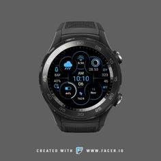 G7 Digital Circle Watch face, The visual functionality of the watchface works for both round and square formats. Available feature moon phase indicator, sunrise/ sunset , current condition & humidity percentage, day in year, week in year, step count.