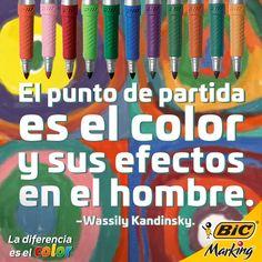 Todo inicia con un punto. #LaDiferenciaEsElColor #color #BICMarking #BIC #BICMarkit #frases #quotes #Kandinsky