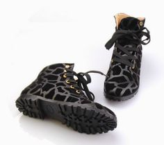 Funky print combat boots. Really cute on! $35.00
