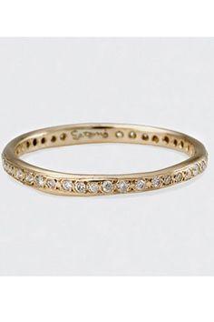 20 Gorgeous Wedding Bands For Every Type Of Bride #refinery29 Satomi Kawakita Inlaid Diamond Ring