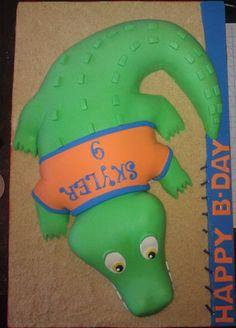 Uf gator cake I just finished - by Cakery Creation in Daytona Beach Crocodile Cake, Cake Pop Designs, Edible Creations, Ormond Beach, Awesome Cakes, Daytona Beach, Cake Pops, Cake Ideas, Cake Decorating