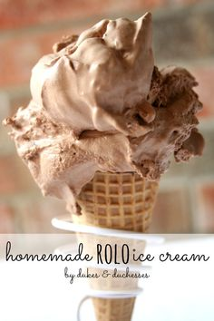 Homemade Rolo Ice Cream