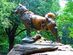 Balto statue in Central Park--a must see!