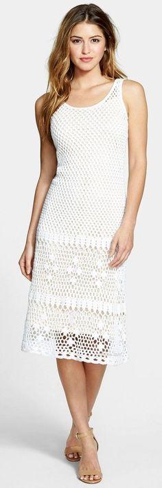 White crochet summer dress