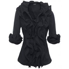 Womens Diego Reiga Samba Ruffle Shirt ($205) ❤ liked on Polyvore