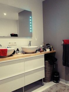 plan de travail et meuble de douche en b toncir salle de bain chantier portugal pinterest. Black Bedroom Furniture Sets. Home Design Ideas