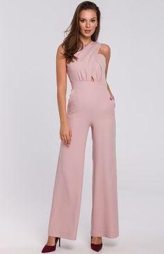 Salopette Femme Taille Haute /à Bretelles Fines /à Nouer Combinaison Femme Fluide en Couleur Uni