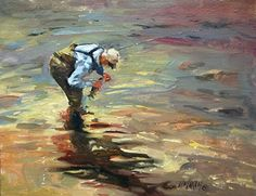 Good Luck! oil of flyfishing catch  Mary Maxam