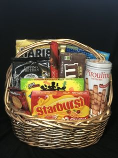 Sweet Burst of various candies and chocolates.  A fun gift for children and adults alike.