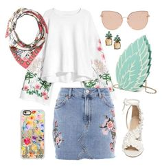 """""""That floral feeling"""" by indigo-lilburn-quick ❤ liked on Polyvore featuring Topshop, Casetify, Tory Burch and Banana Republic"""